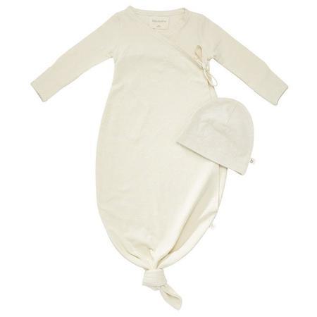 Unisex Kids Bacabuche Organic Baby Kimono + Matching Beanie - Natural