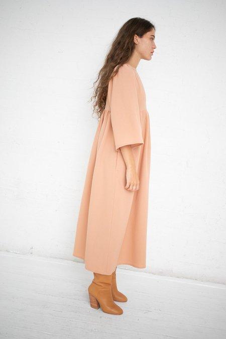 Milena Silvano Impero Wool Crepe Dress - Sunrise