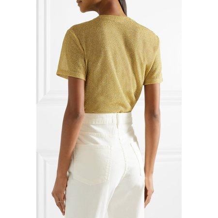 Alix Essex glitter bodysuit - GOLD