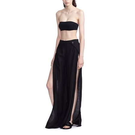 Alix Shore club pant coverup - BLACK