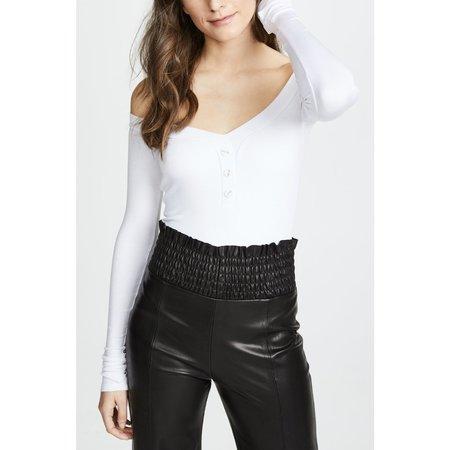 Alix Sutton bodysuit - WHITE