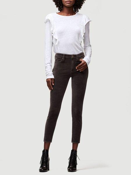 FRAME Denim Frame Le Velveteen High Skinny jean - Charcoal
