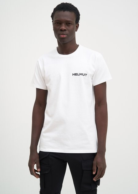 Helmut Lang Brian Roettinger Logo Hack T-Shirt - Chalk White