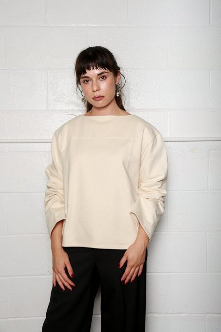 Lemaire Mariniere Sweatshirt - Cream