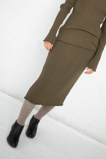 Lauren Manoogian Accordion Skirt - Olive