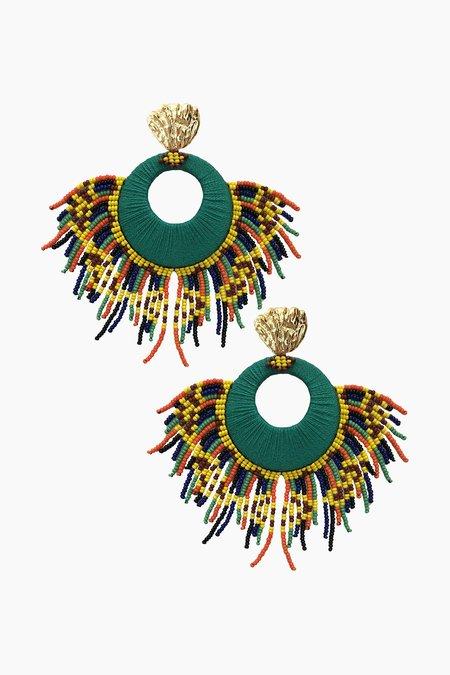Jetlagmode Green Tropicalia Earrings