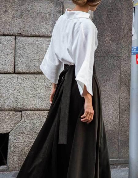 Caftanii Firenze Kimi Velvet Skirt - Military Green