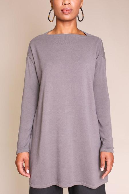 Evam Eva Garment Dyed Tunic - Grey
