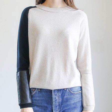 Veda Gus Cashmere Sweater - Sand Box/Black