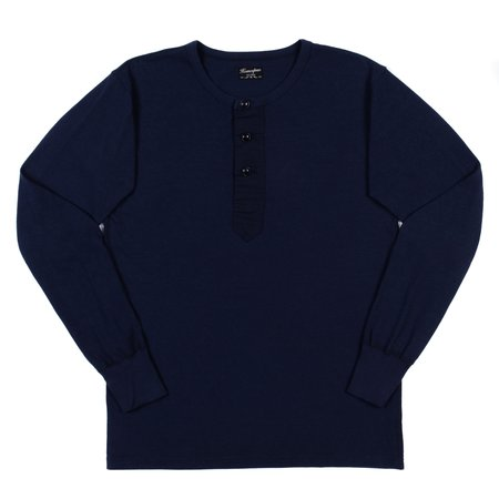 Homespun Knitwear Homespun Surplus Henley - Indigo