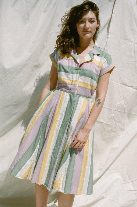 Nikki Chasin Rally Dress - Marigold Stripe