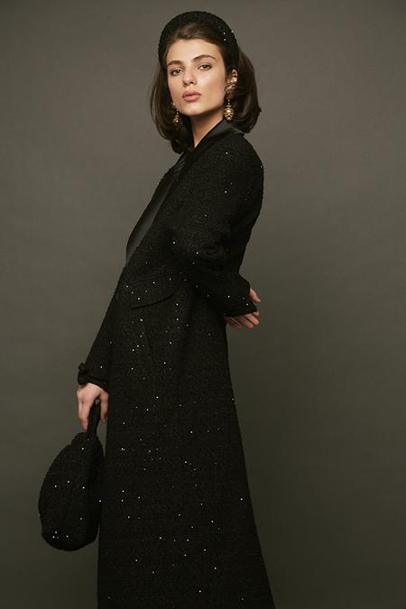 DESERT MANNEQUIN x N-DUO Starry night coat - black