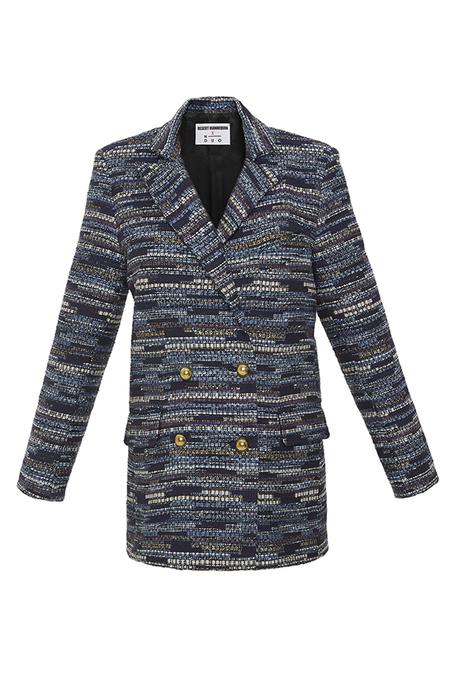 DESERT MANNEQUIN x N-DUO tweed blazer - Blue