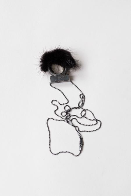 Feswa Mink Pendant Ring - Black