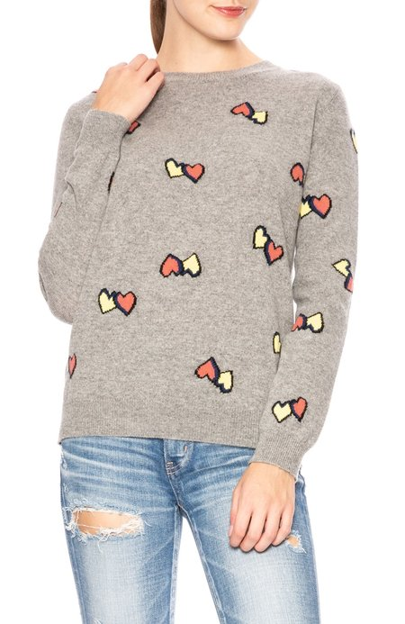Chinti and Parker Twin Hearts Sweater