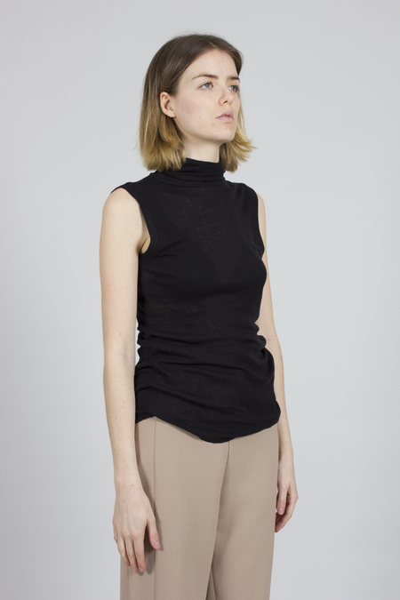 Greyyang Sleeveless Roll Neck Top - Black
