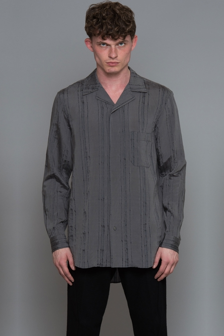 Forme D'expression Convertible Collared Shirt - Grey