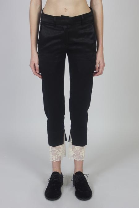 Ann Demeulemeester Banfield Trousers - Black/Genevieve Ecru