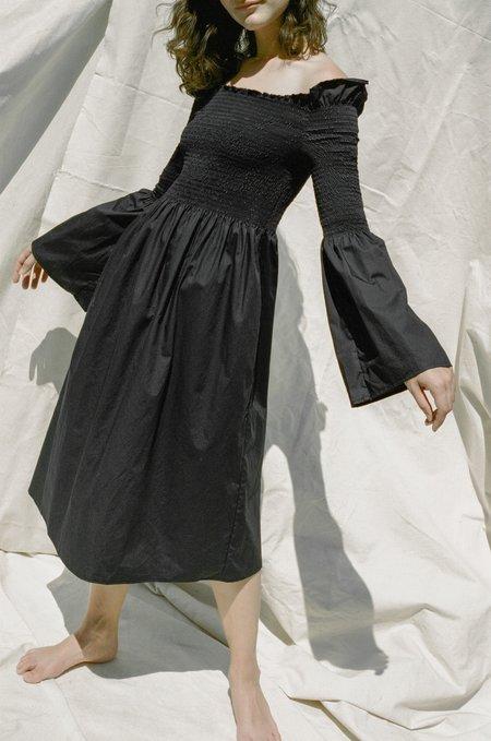Shaina Mote Mer Dress - Black Poplin