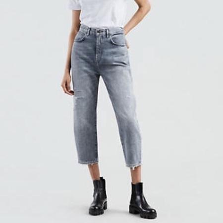 Phoenix General Barrel Crop Jeans - Dusted Azure