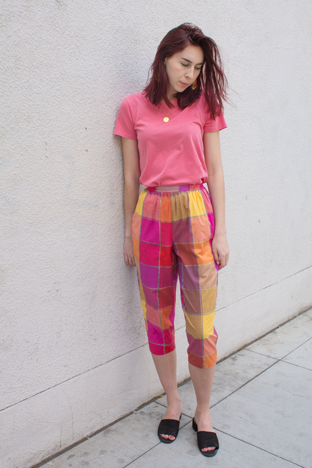 Mercy Vintage Madras Cotton Pants - Plaid