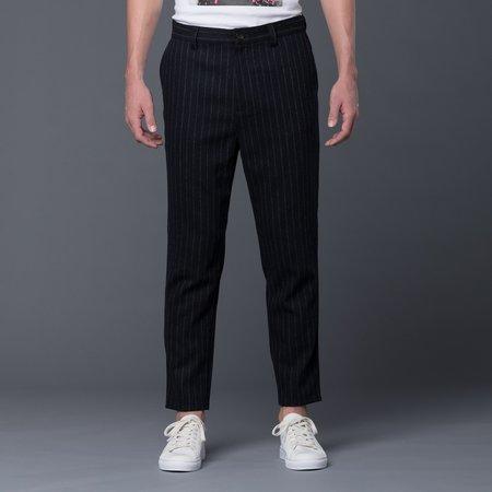 Gustav Von Aschenbach Striped Tweed Trousers - Black Pinstripe
