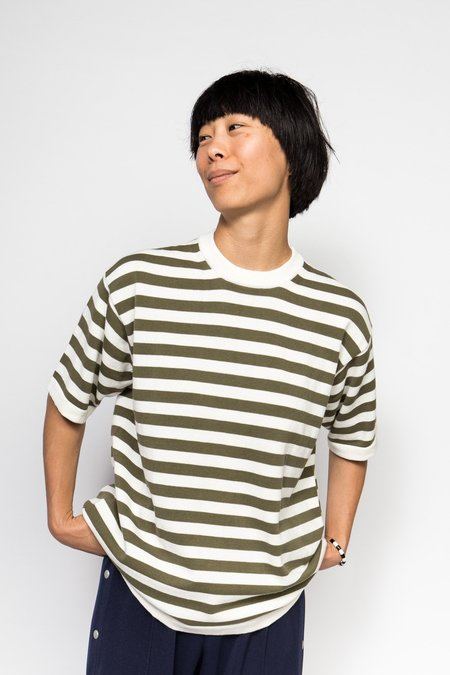 Maiden Noir Knit - Olive Stripe