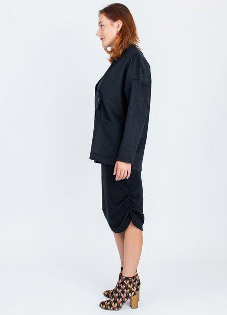 A. Oei Obi Wool Jacket - charcoal grey