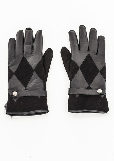 Unisex Berenik Leather Gloves - Black