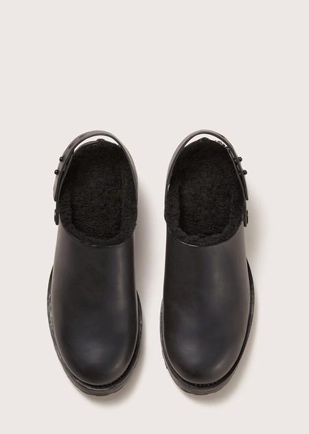 FEIT Shearling Clog - Black