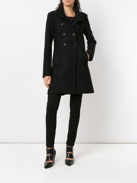 Uma Raquel Davidowicz Roca Military Coat - Black