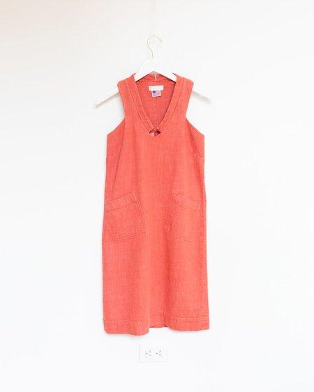 Carleen Diamond Neck Dress - Red