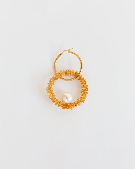 Mirit Weinstock Orbit & Luna Single Hoop Earring - Gold