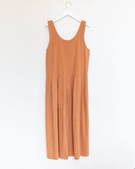 Black Crane Patched Dress - Coral