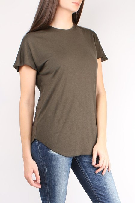 Cathrine Hammel Wool Jersey Tee Shirt - Army Green
