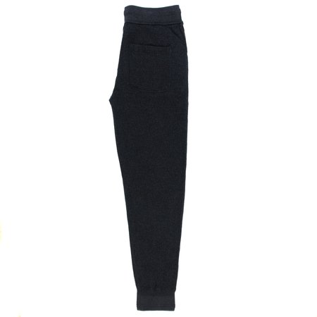Homespun Knitwear Slim Waffle Pant - Charcoal
