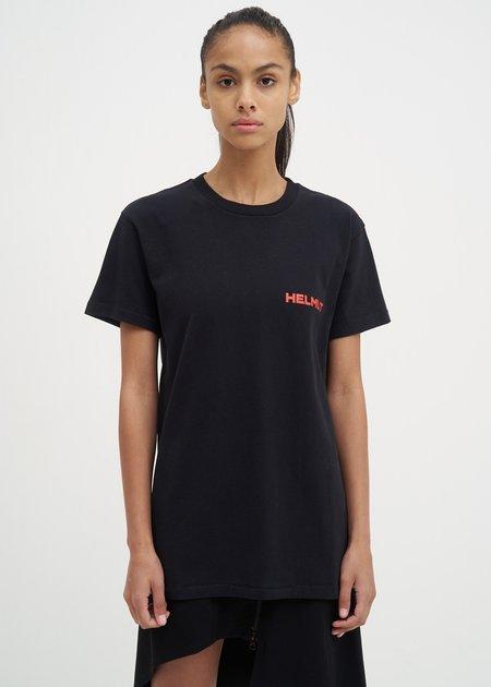 UNISEX Helmut Lang Brian Roettinger Logo Hack T-Shirt - Black