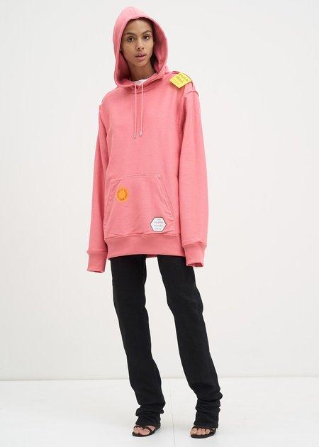UNISEX Helmut Lang Zip Pocket Hoodie - Dark Pink
