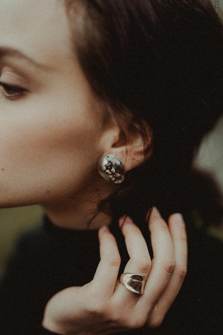 Uni Jewelry Inez Stud Earrings - Silver