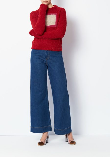 Veda Modern Sweater - Crimson