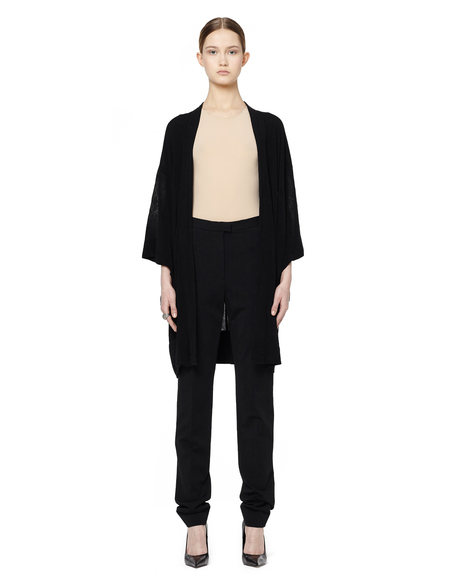 Blackyoto VINTAGE Silk kimono coat - BLACK