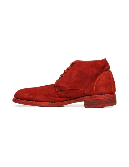Guidi Suede Boots - Red