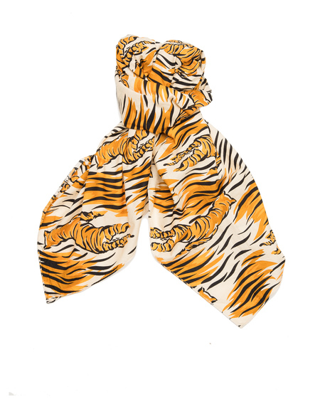 The Soloist Printed Cotton Scarf  - Tiger Stripes