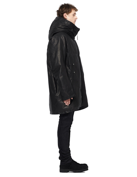 Isaac Sellam Down Leather Parka