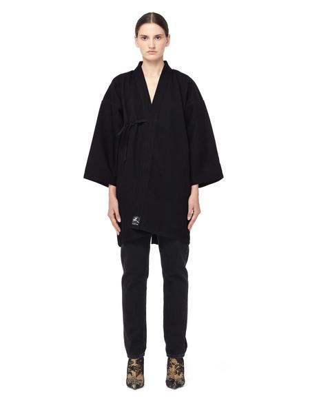 Blackyoto VINTAGE Embroidered Kimono Jacket - BLACK