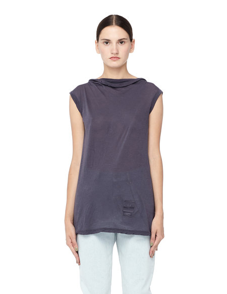 DRKSHDW by Rick Owens Cotton Sleeveless Top - Purple