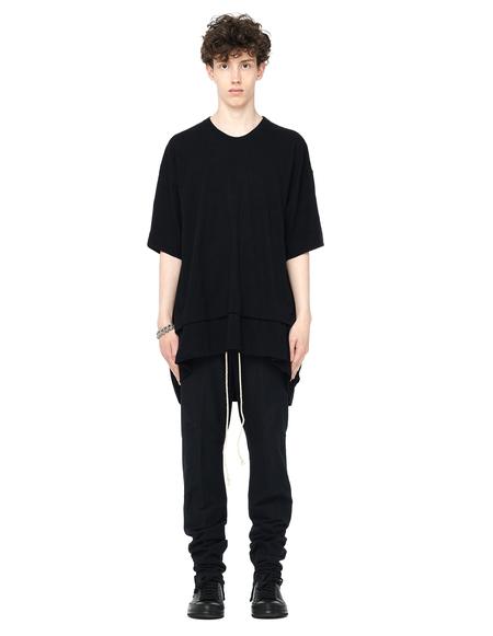 Avialae Cotton and Wool Mix Sweatpants - BLACK