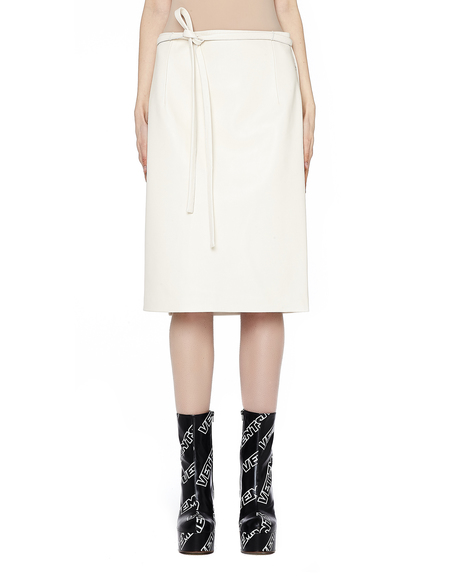 90cd77e2c0c6 Vetements Leather Wrap Skirt - White Vetements Leather Wrap Skirt - White