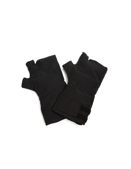 Julius Nylon Padded Fingerless Gloves - Black