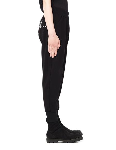 Julius Neu Romantika Printed Cotton Pants - Black